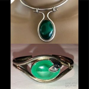 Bundle of genuine Malachite Necklace and Braclet